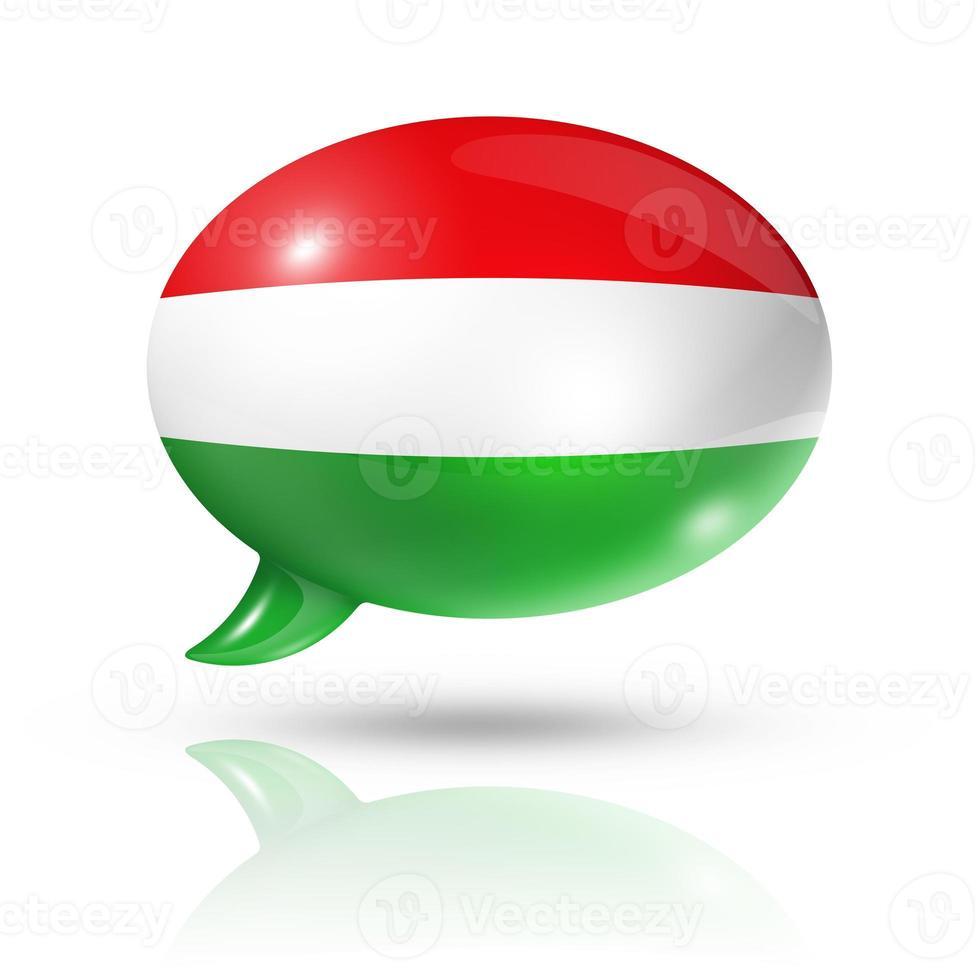 bolla di discorso della bandiera ungherese foto