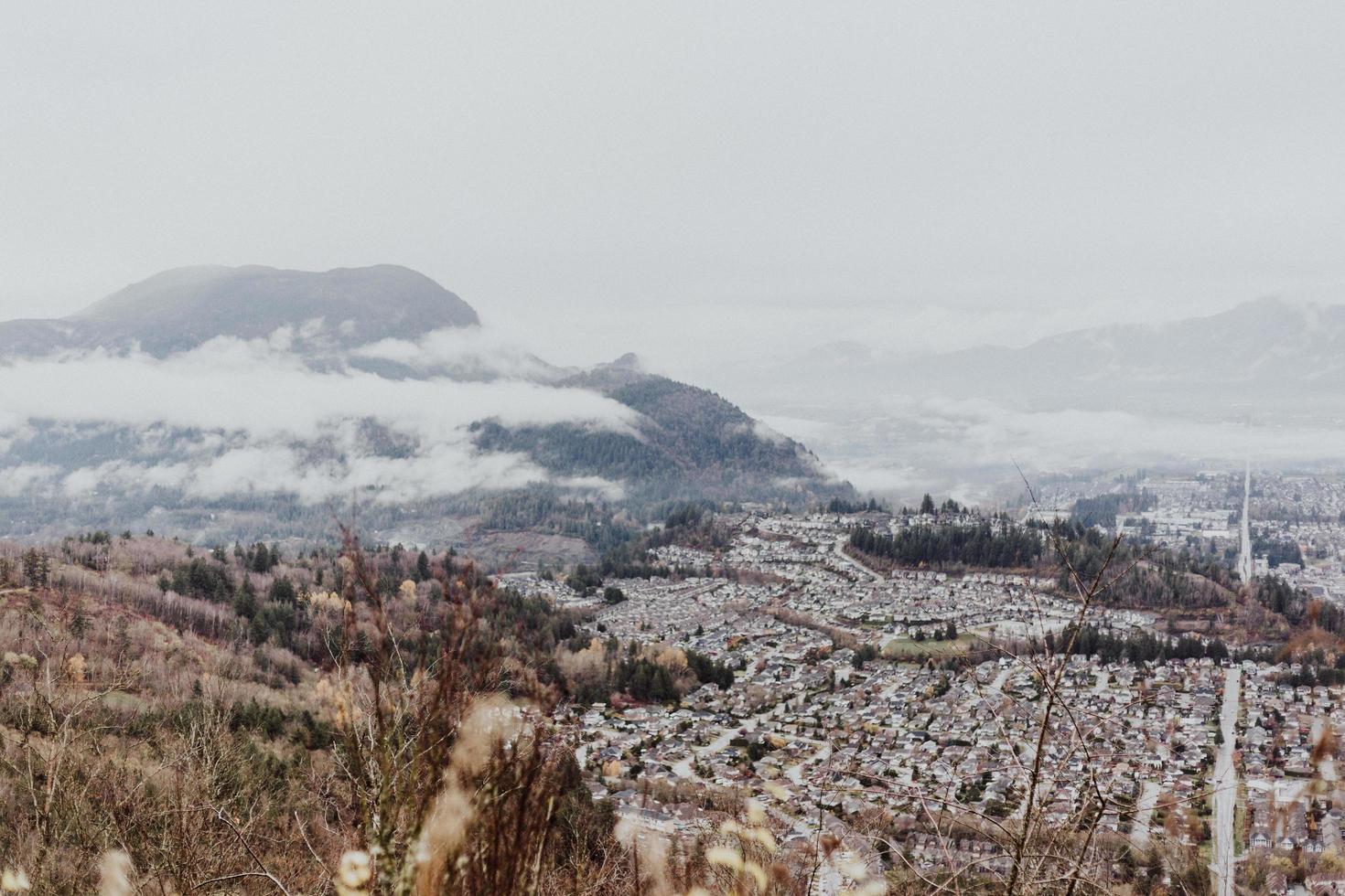vista aerea del paesaggio urbano foto