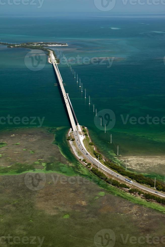 foto aerea dell'autostrada d'oltremare, Florida keys
