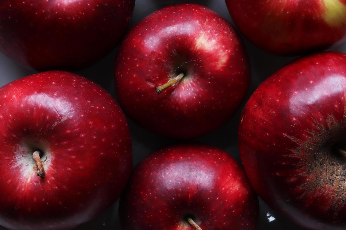 fotografia di mele per sfondo alimentare foto