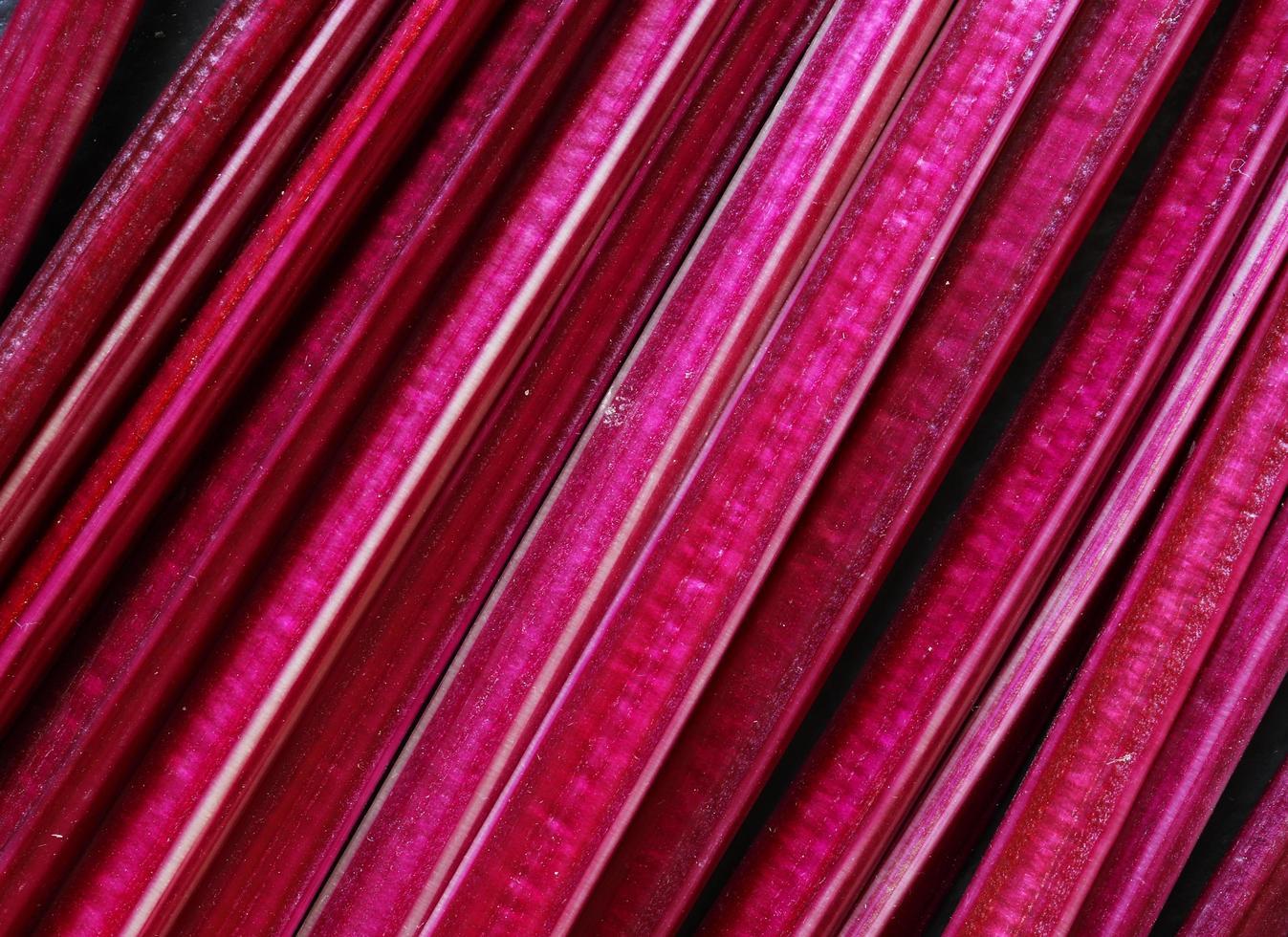 fotografia di steli di barbabietola per sfondo alimentare foto