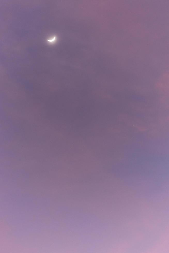 la luna e il cielo foto
