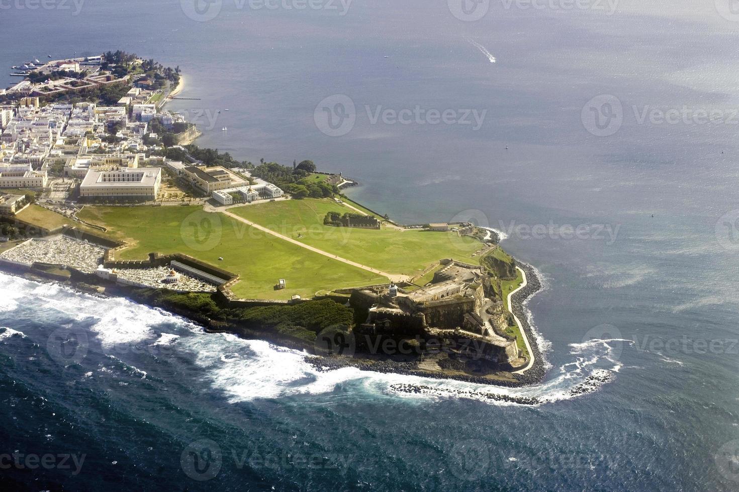vista aerea di el morro puerto rico foto