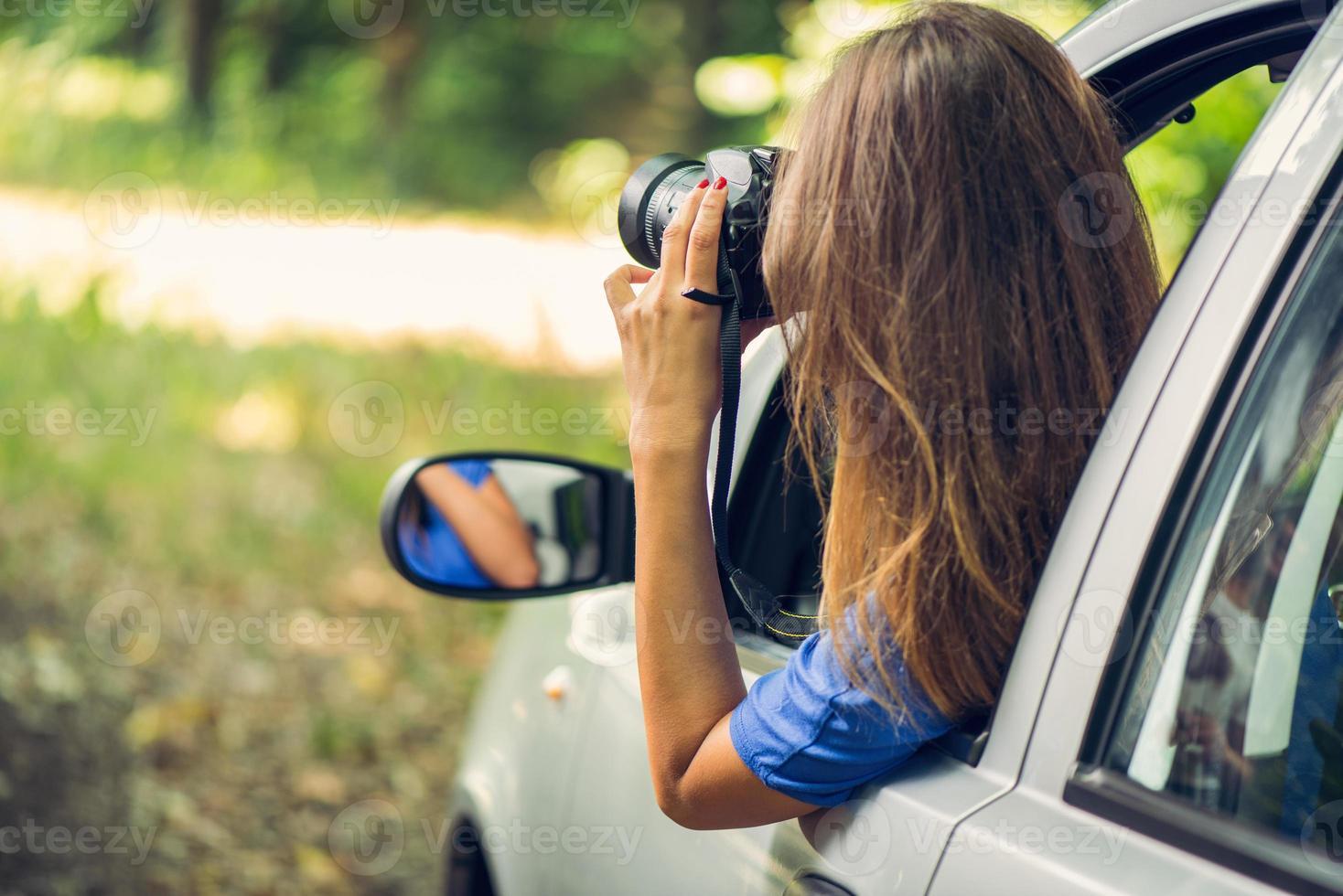 viaggiando in macchina foto