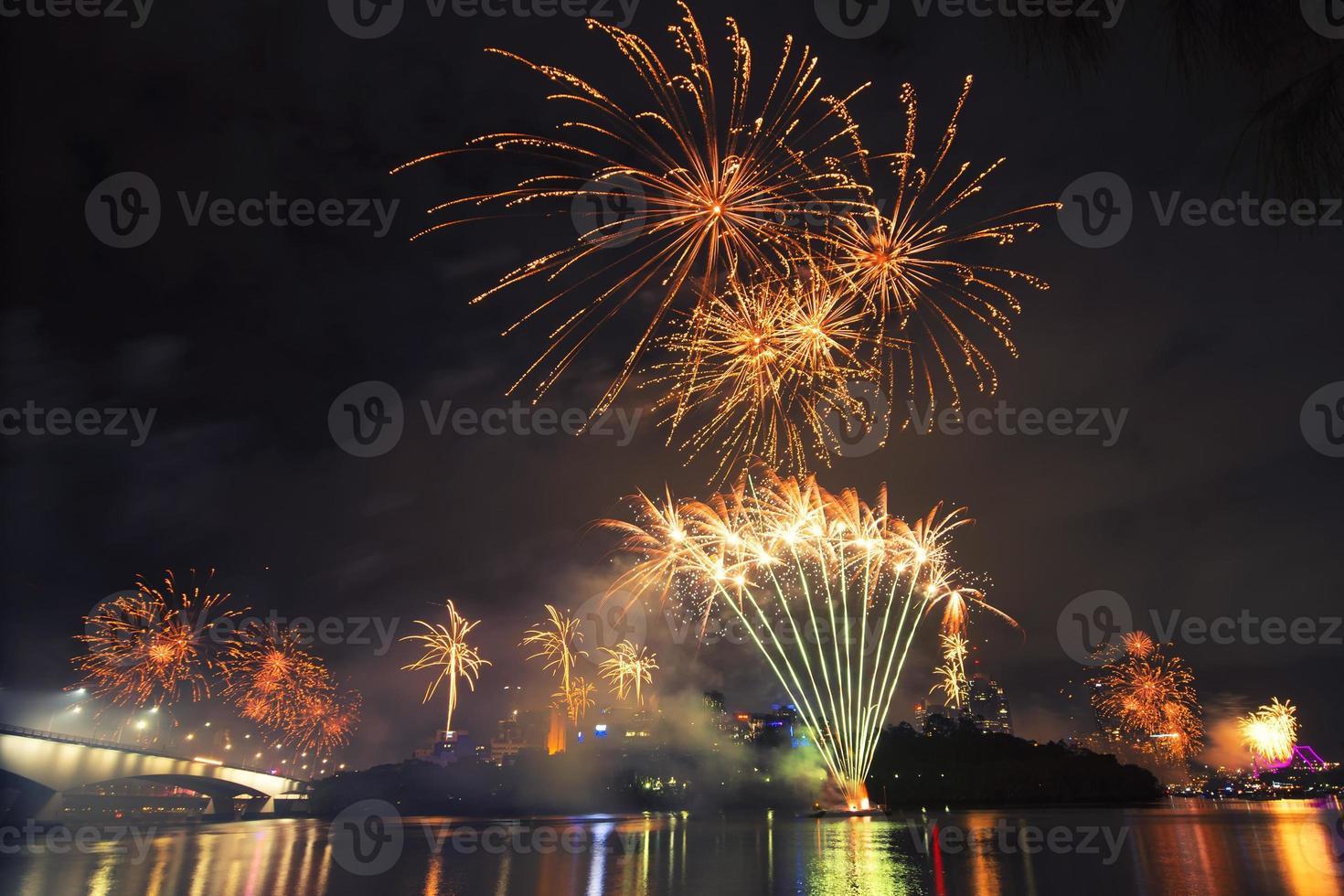 fuochi d'artificio a brisbane - 2014 foto