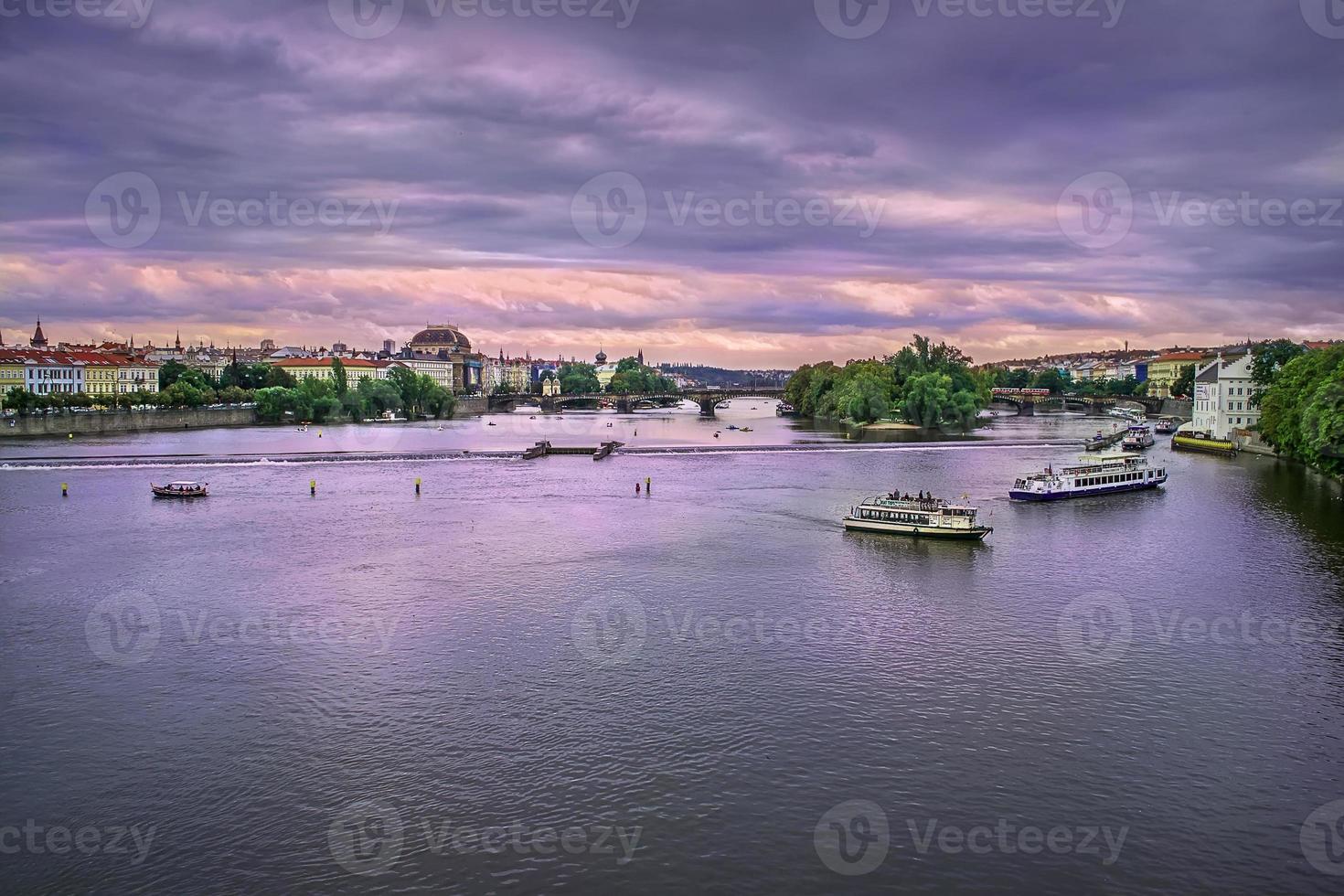 fiume Moldava a Praga, Repubblica Ceca foto