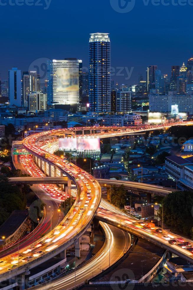 Superstrada di Bangkok e vista dall'alto dell'autostrada, Thailandia foto