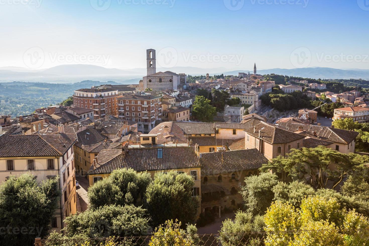 centro storico di perugia, umbria, italia foto