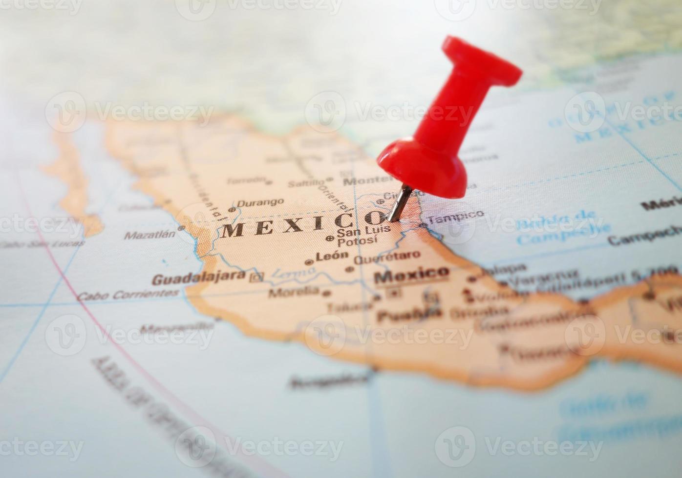 perno della mappa del Messico foto