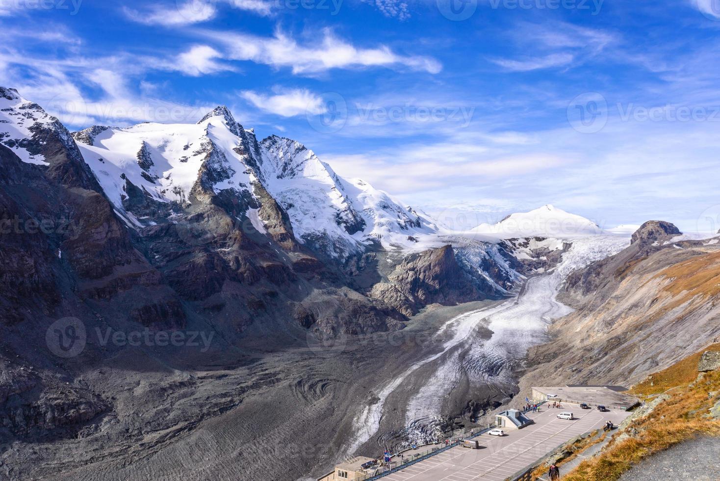 vista del ghiacciaio franz josefs hohe, parco nazionale degli hohe tauern foto