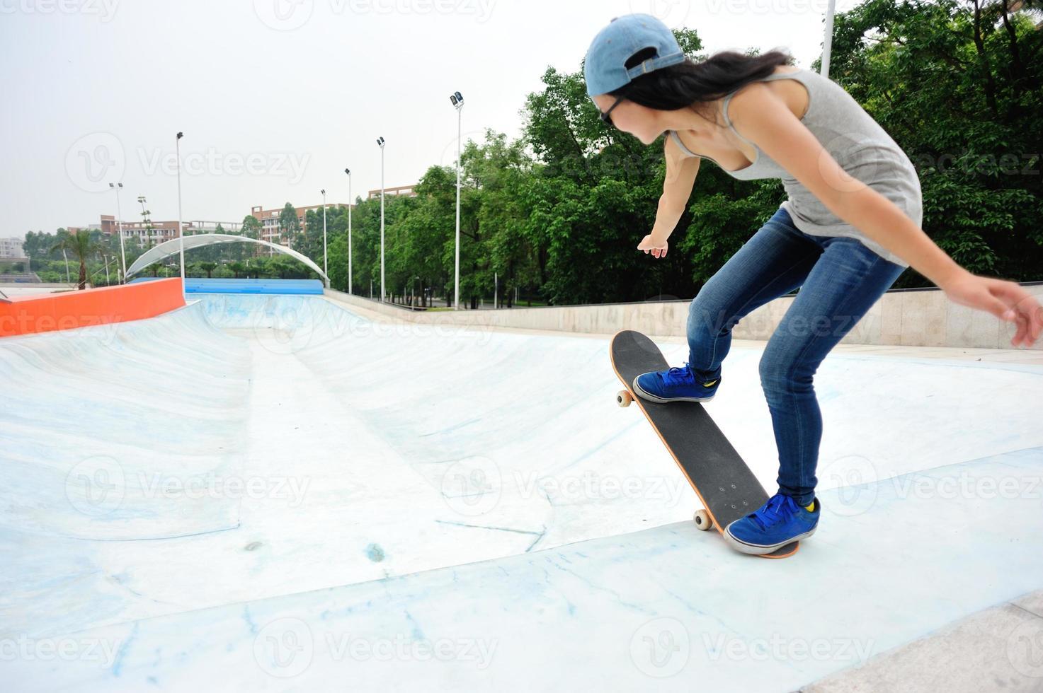 gambe da skateboard foto