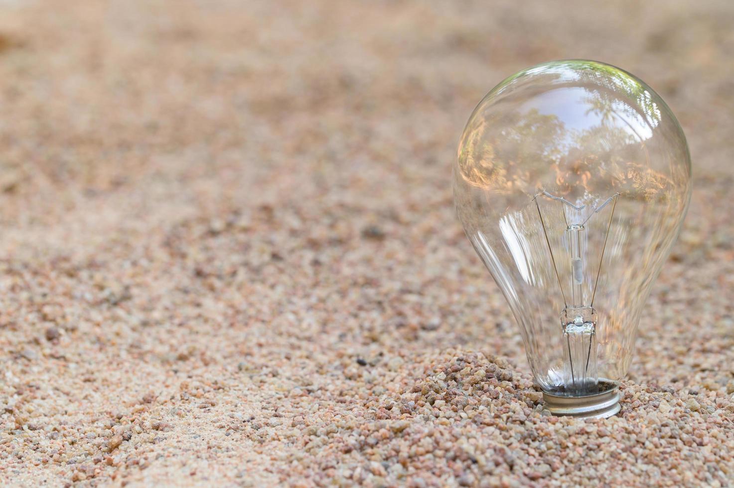 lampadina nella sabbia foto