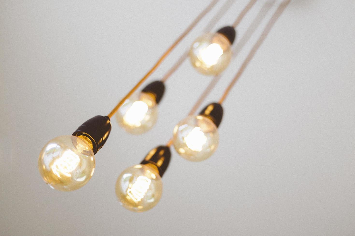 dettaglio delle lampadine foto