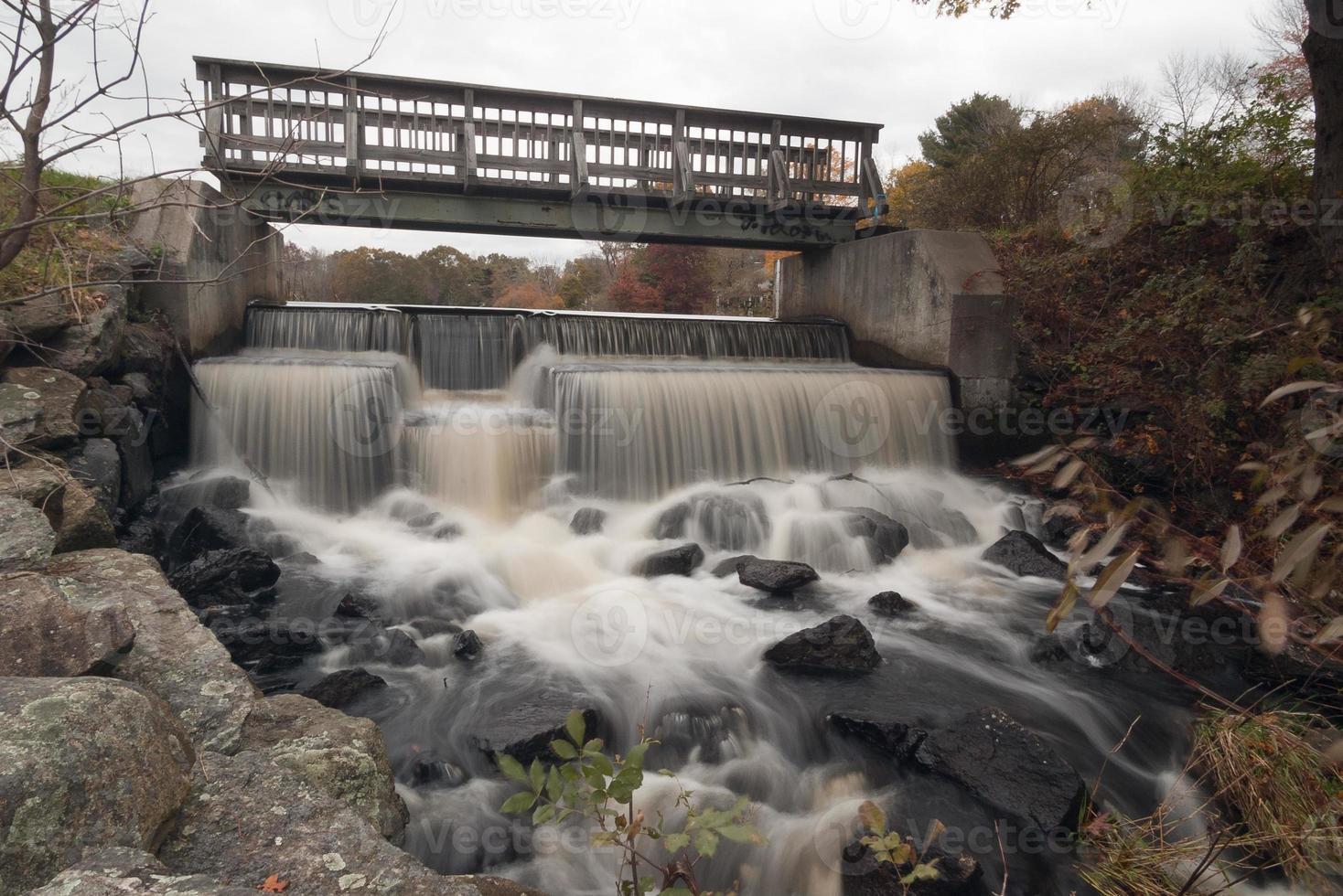 cascata e ponte foto