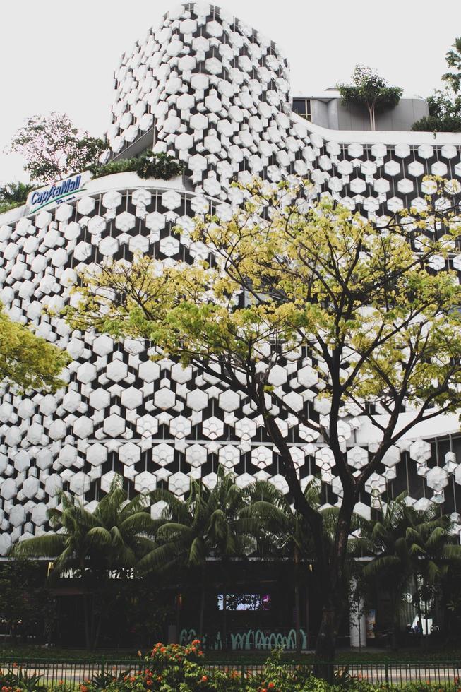 singapore, 2020 - moderno edificio bianco foto
