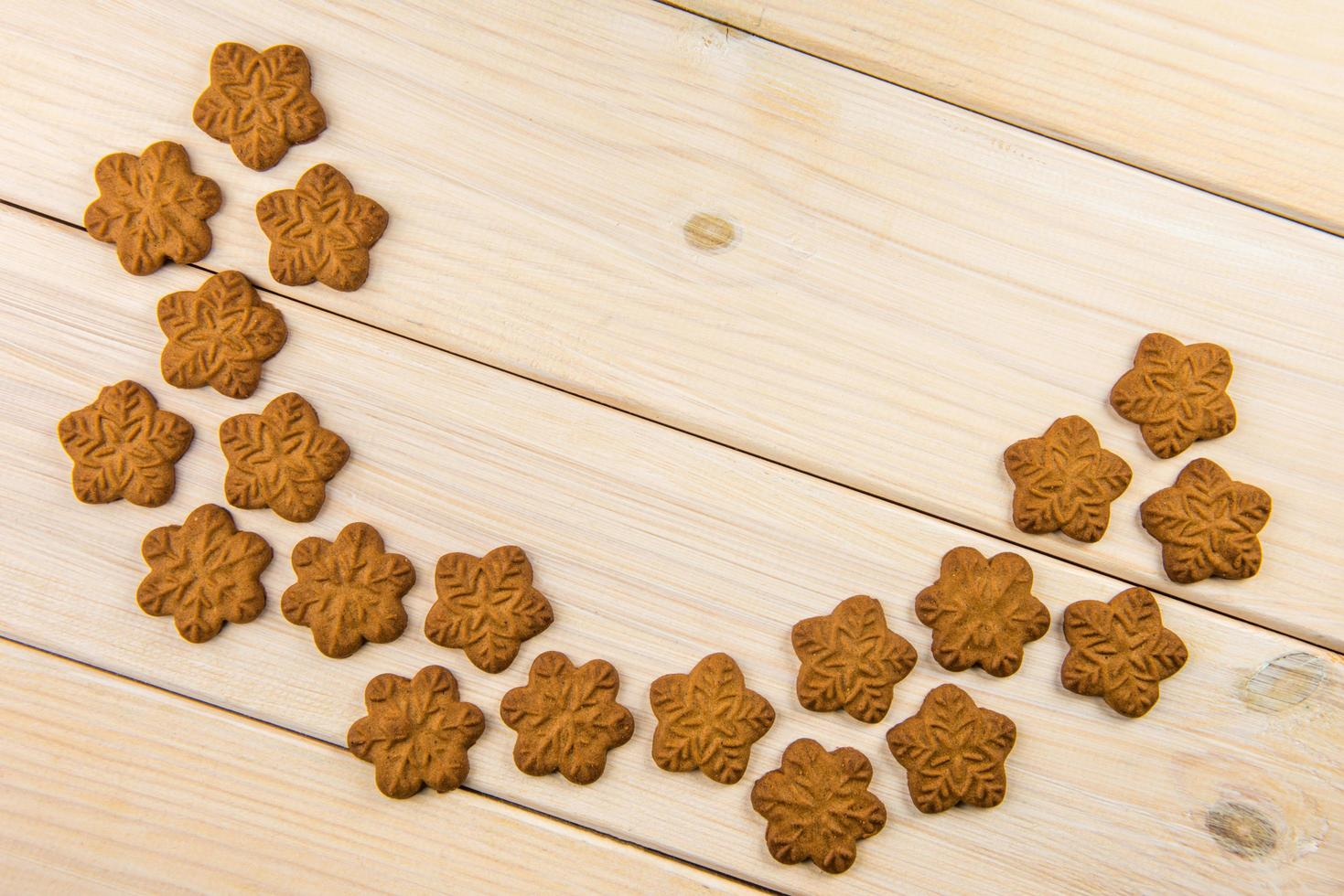 vista dall'alto di biscotti di panpepato foto