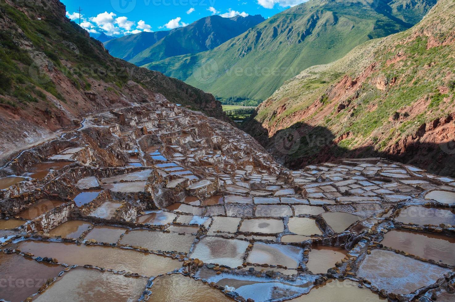 salinas de maras, valle sacra, perù foto