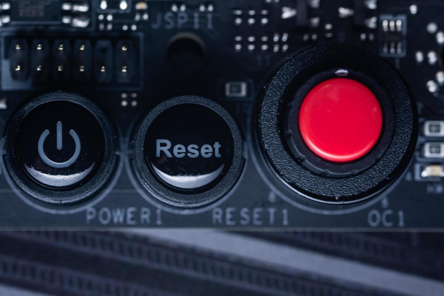 scheda a circuito elettronico, primo piano foto
