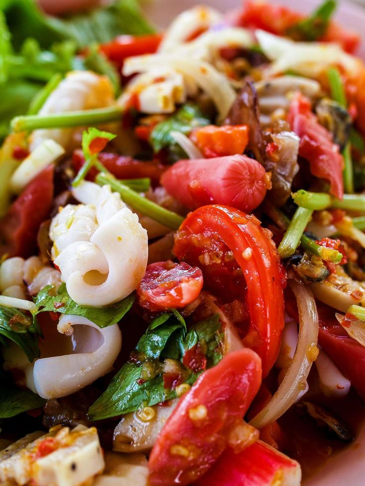primo piano del piatto di cucina tailandese foto