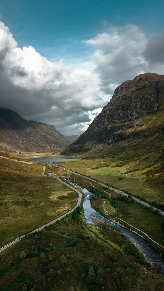 ruscello che scorre attraverso un paesaggio scozzese foto