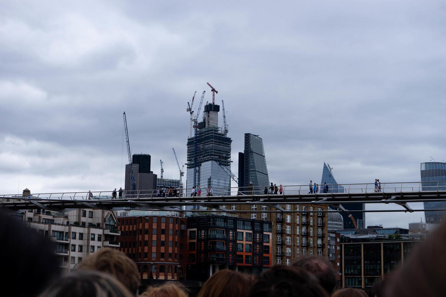 londra, inghilterra, 2020 - costruzione di edifici in città foto
