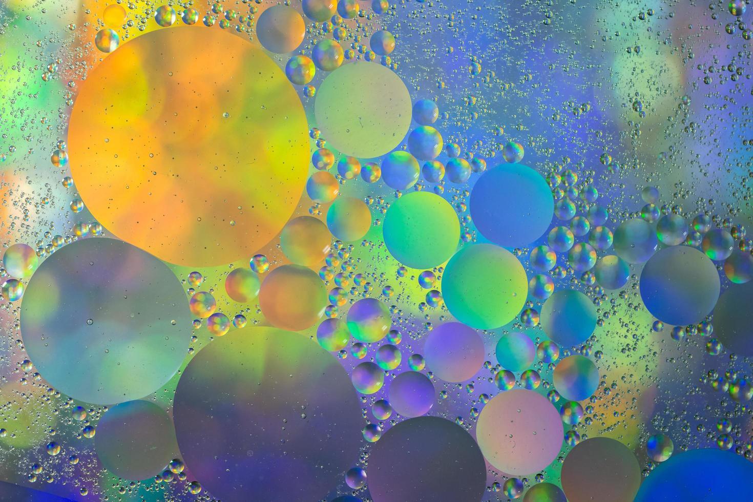 olio e acqua astratto sfondo macro foto