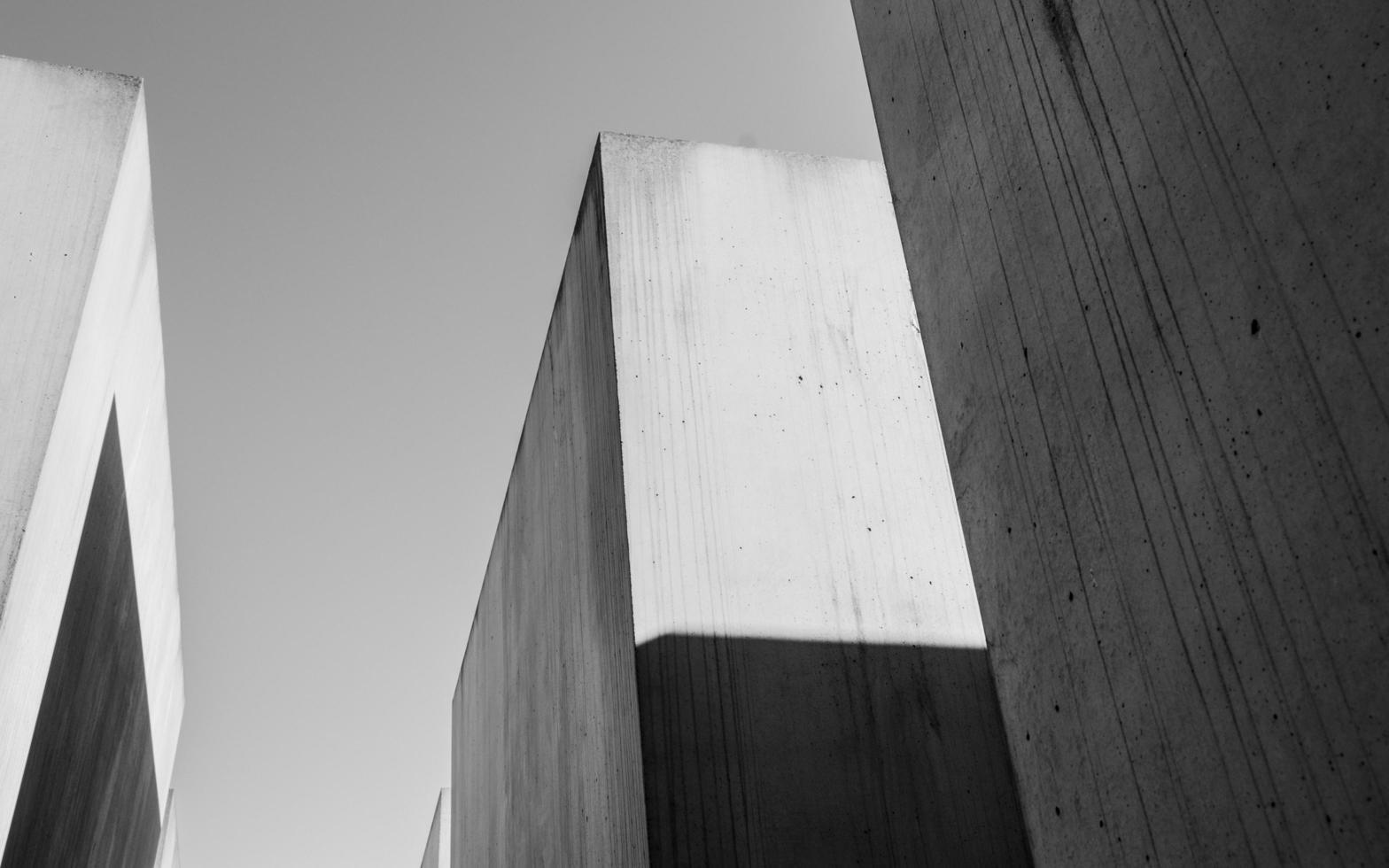 foto in bianco e nero di cemento