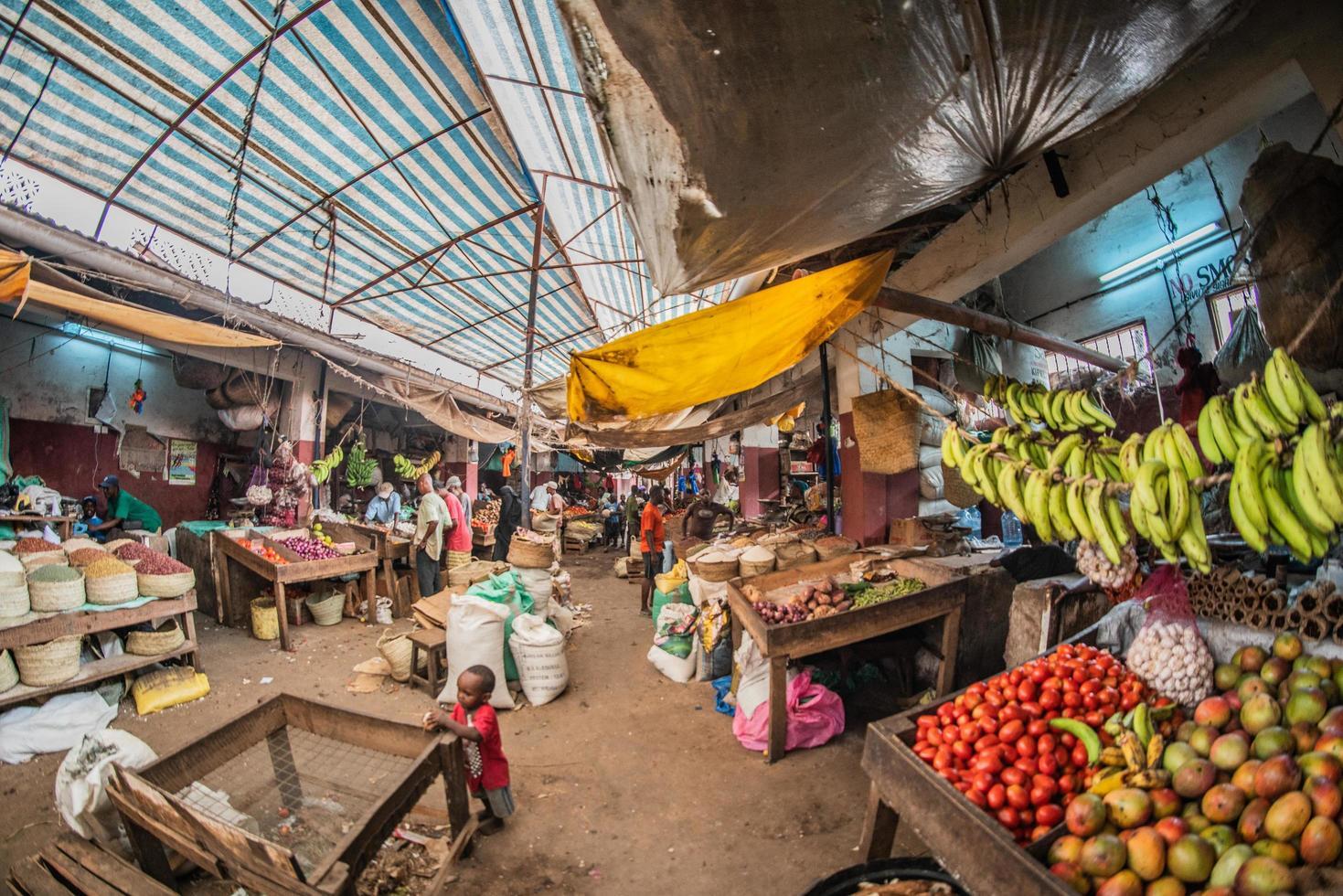 bazar del mercato agricolo in kenya foto