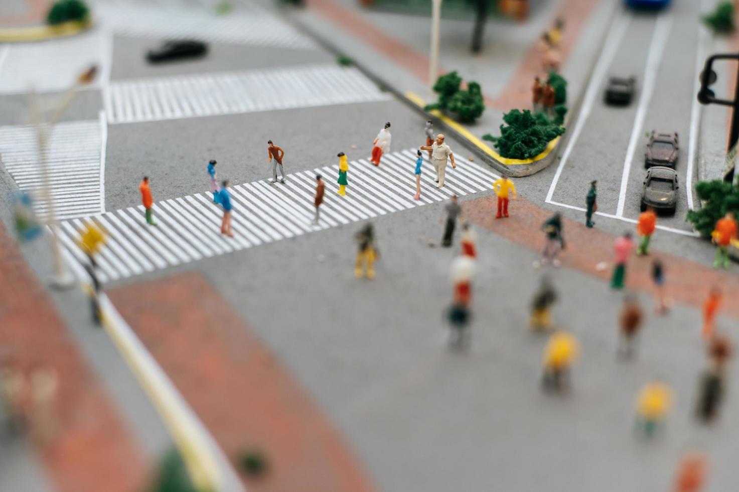 piccola gente di città del tilt shift foto