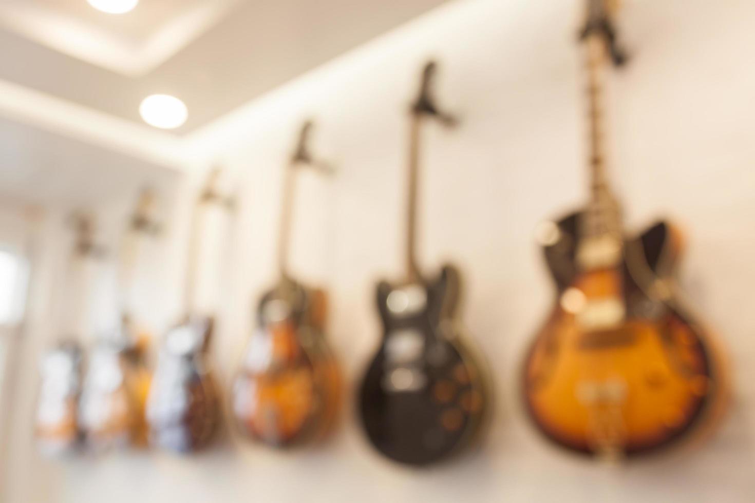 sfondo sfocato della chitarra foto