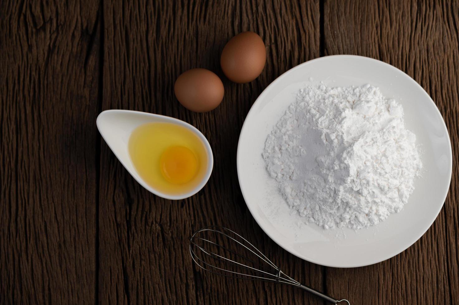 uova e farina di tapioca ingredienti foto