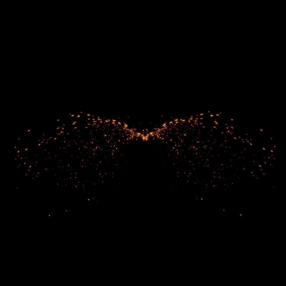 disegno del fuoco su sfondo nero foto