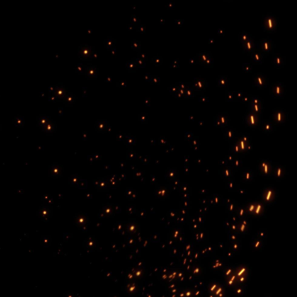 scintilla di fuoco su sfondo nero foto