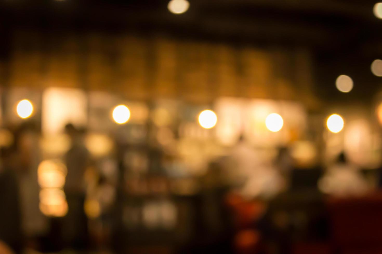 scena sfocata del ristorante foto