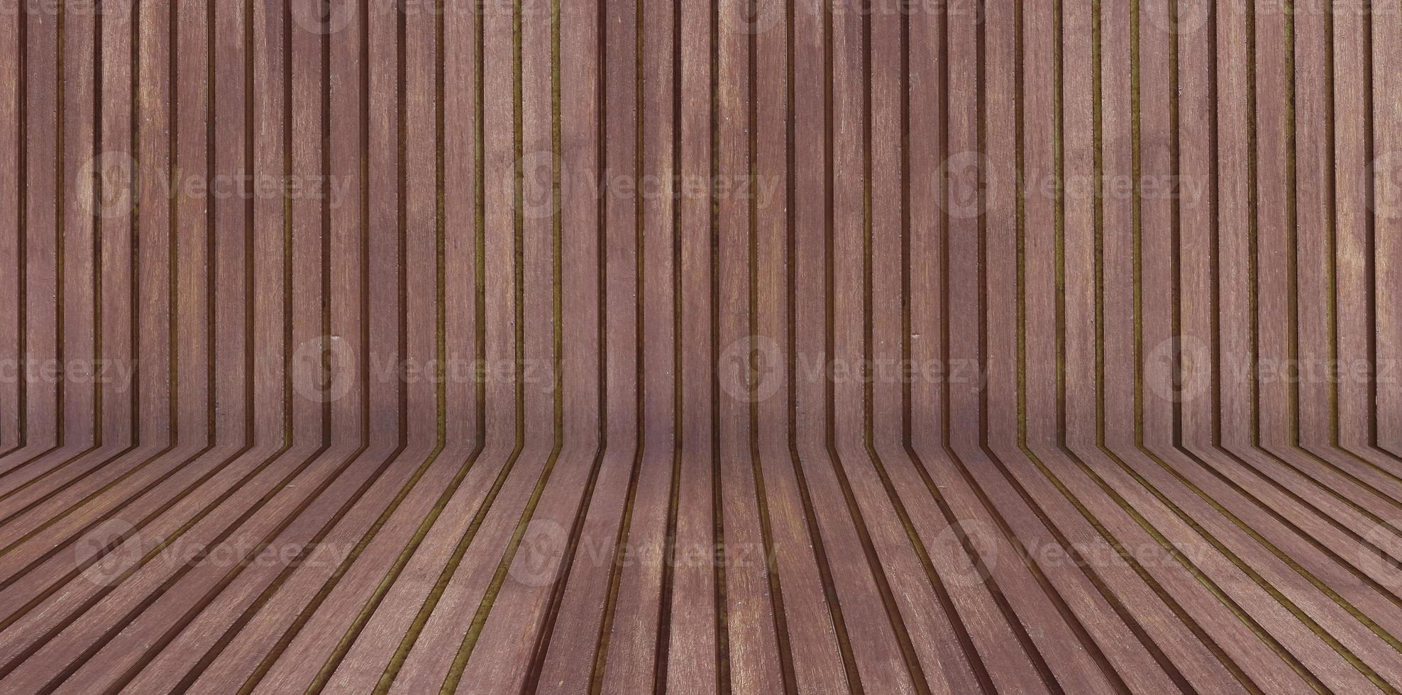 Illustrazione 3D della stanza in legno foto