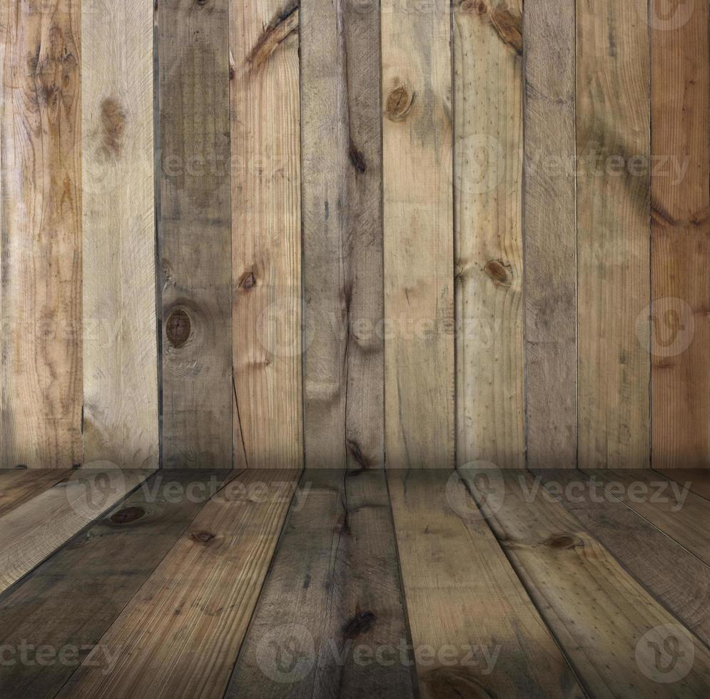 parete e pavimento in legno foto