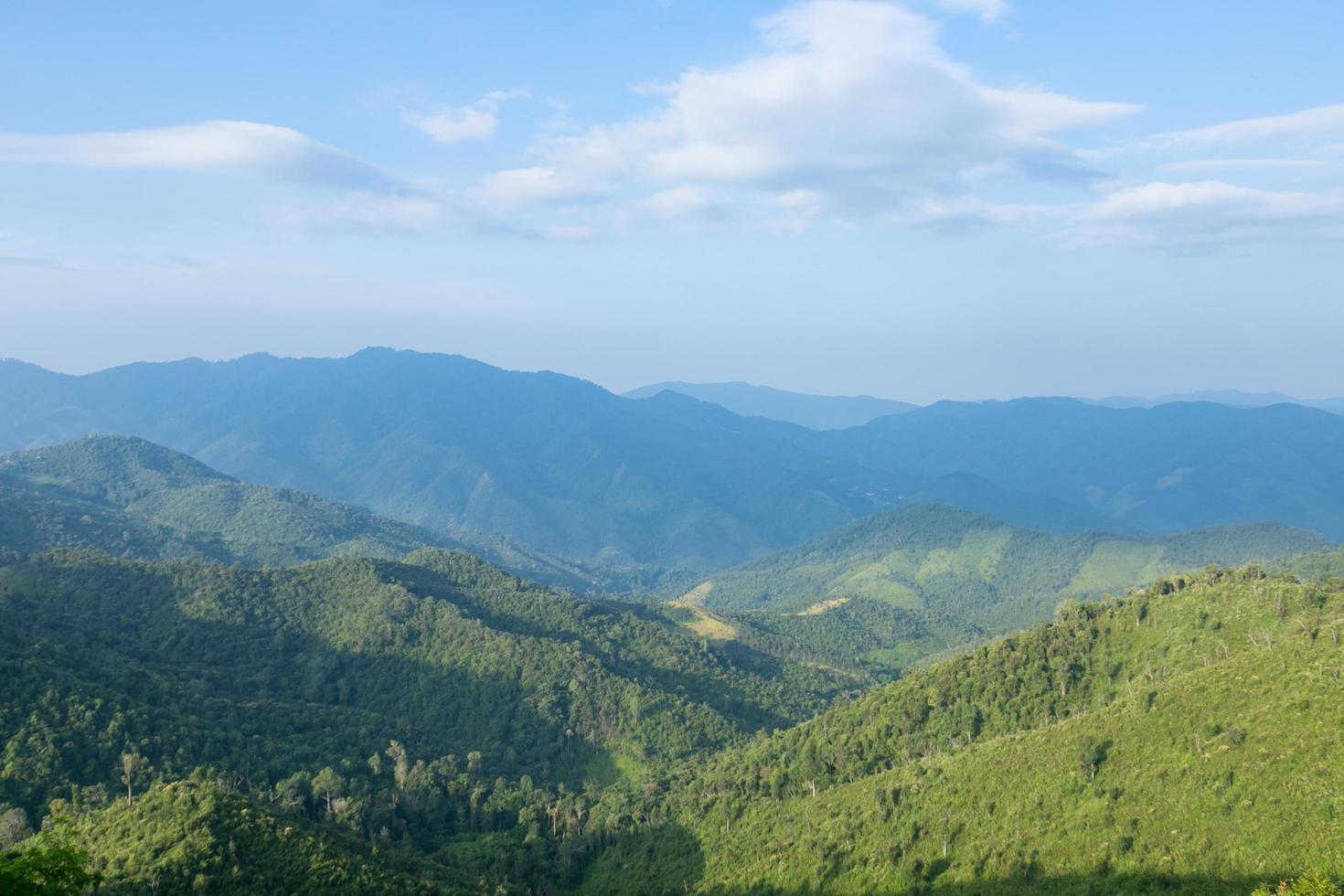 cielo, foresta e montagne foto