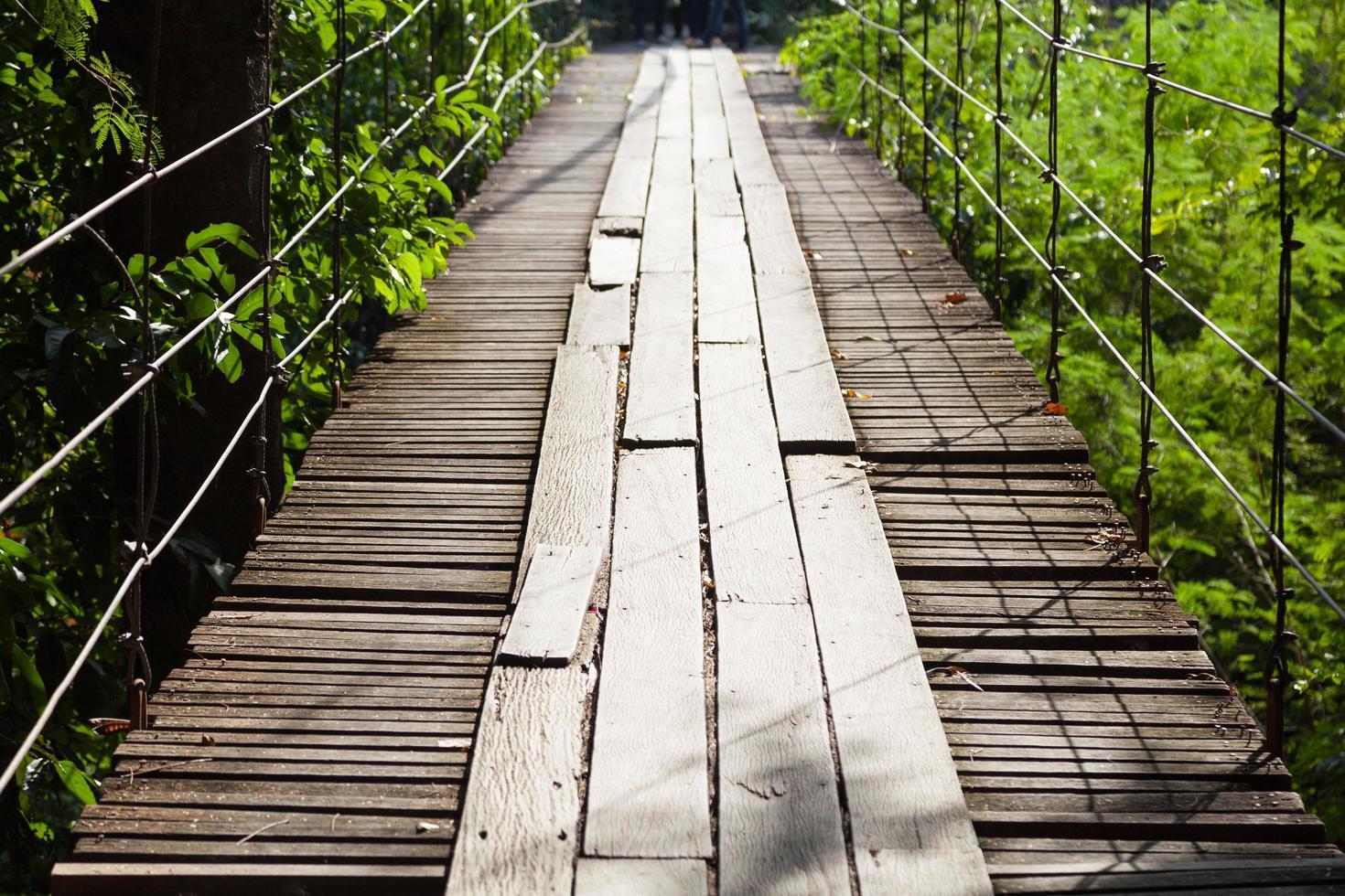 ponte sospeso in legno foto