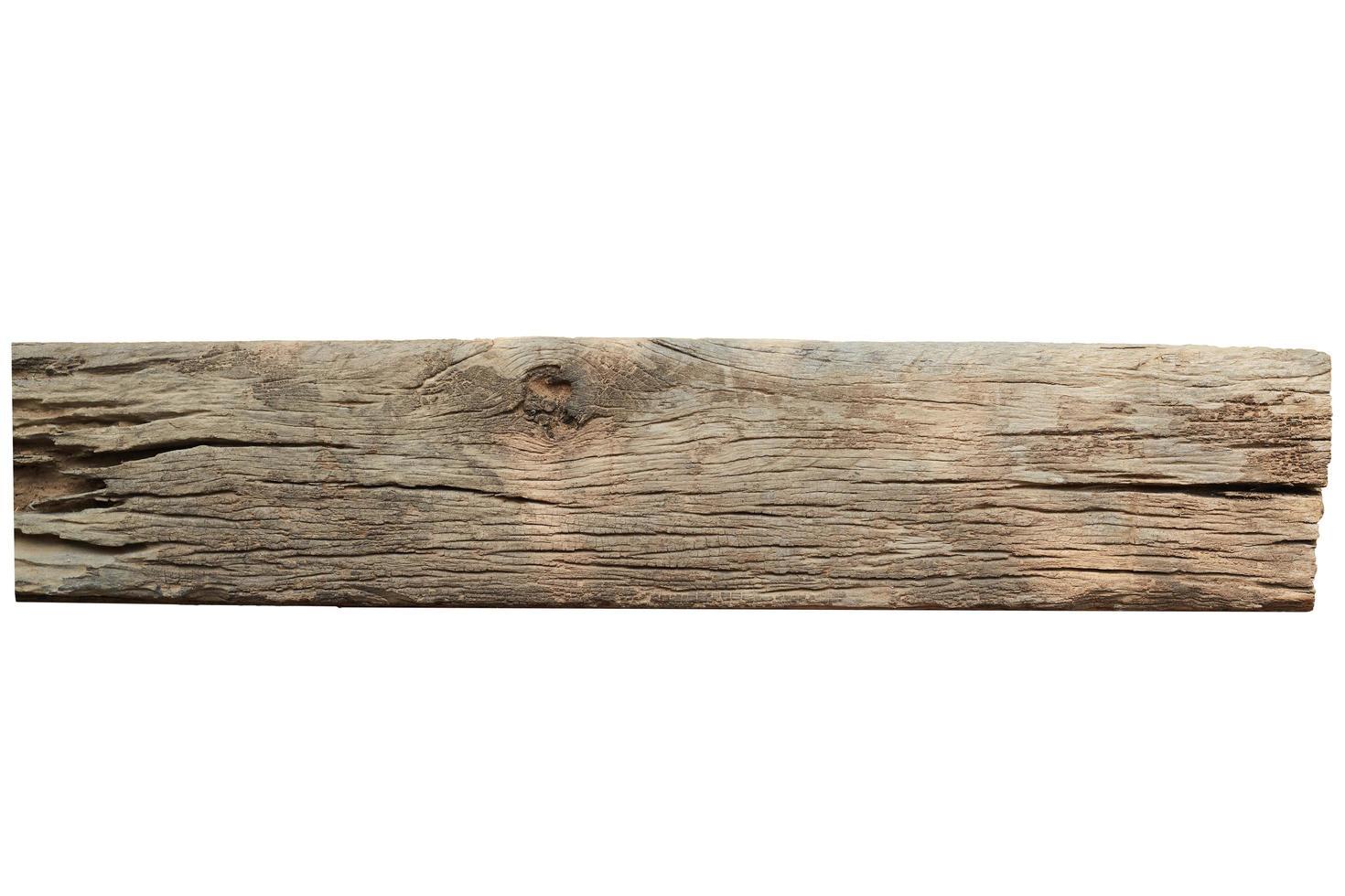 tavola di legno su bianco foto