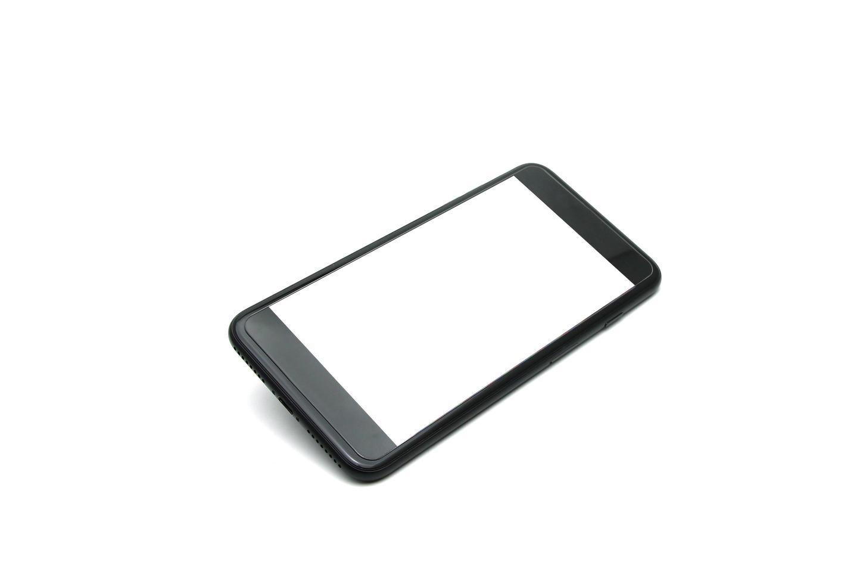 mock-up di smartphone su bianco foto