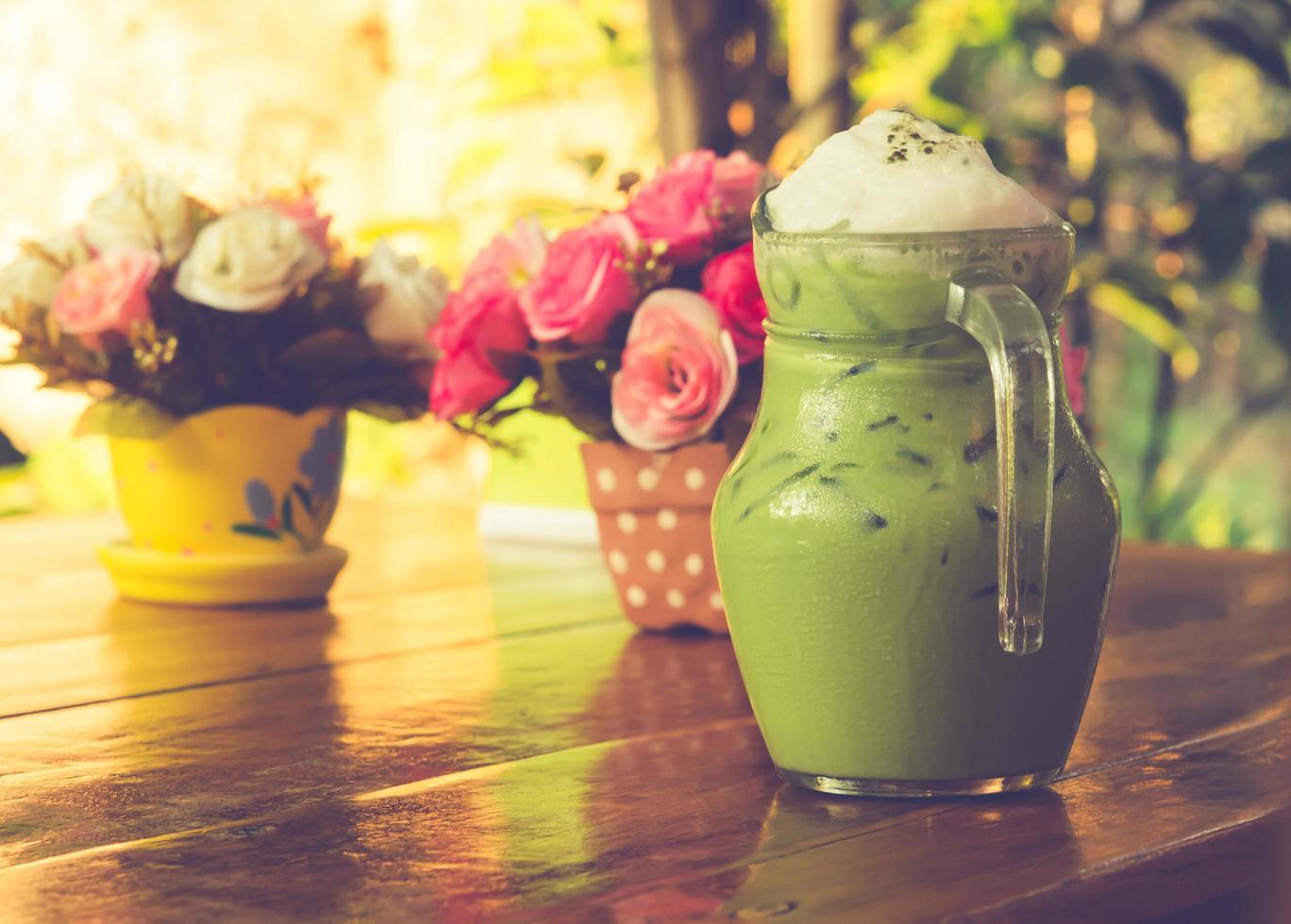 tè verde freddo foto