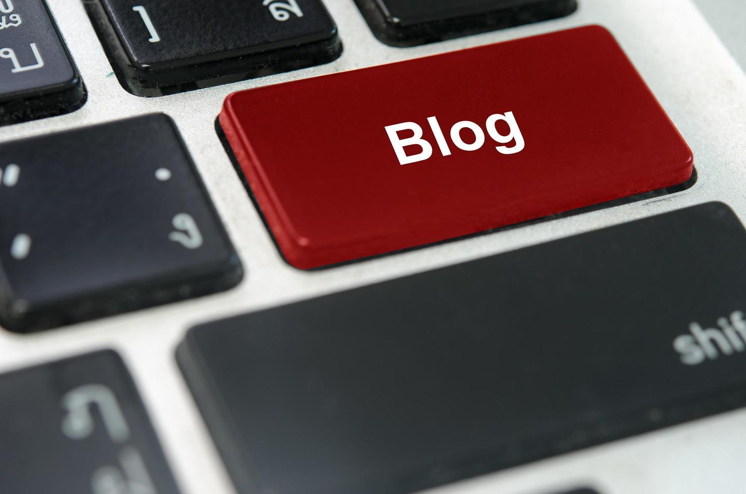 pulsante blog su una tastiera foto