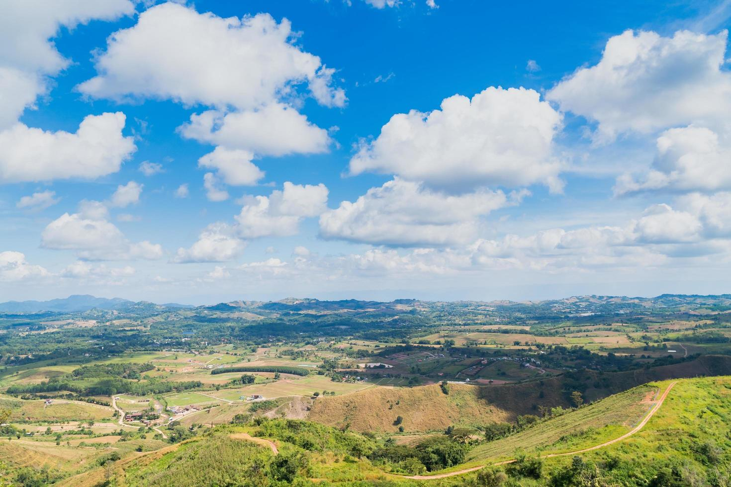 paesaggio di foreste e montagne in thailandia foto