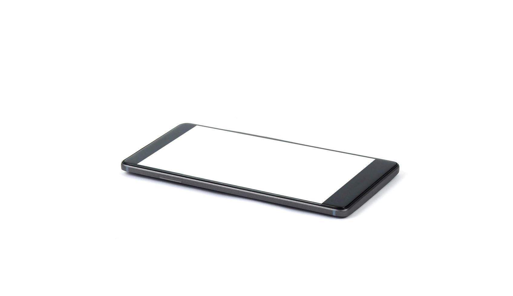 vista laterale del modello di smartphone foto