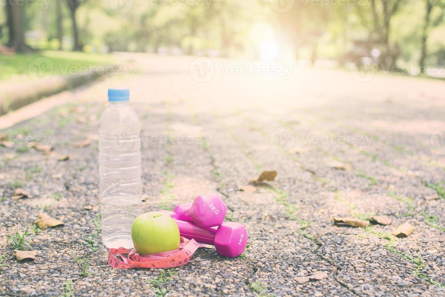 concetto di dieta di esercizio e fitness foto
