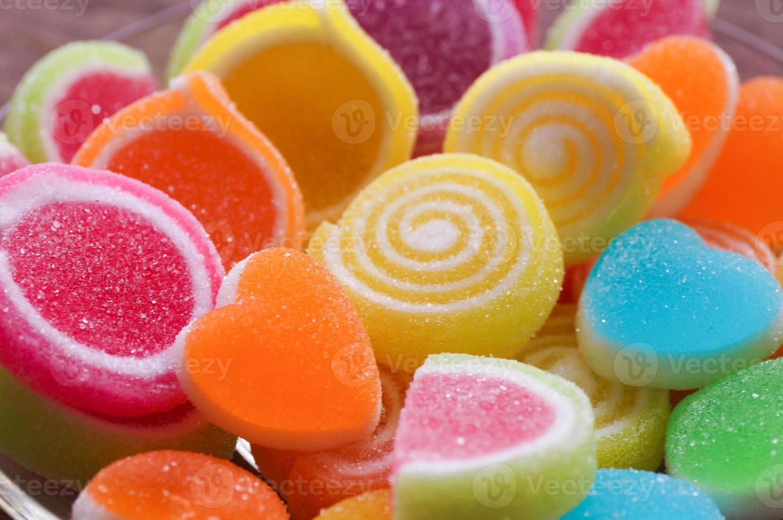 caramelle dolci a forma di cuore foto