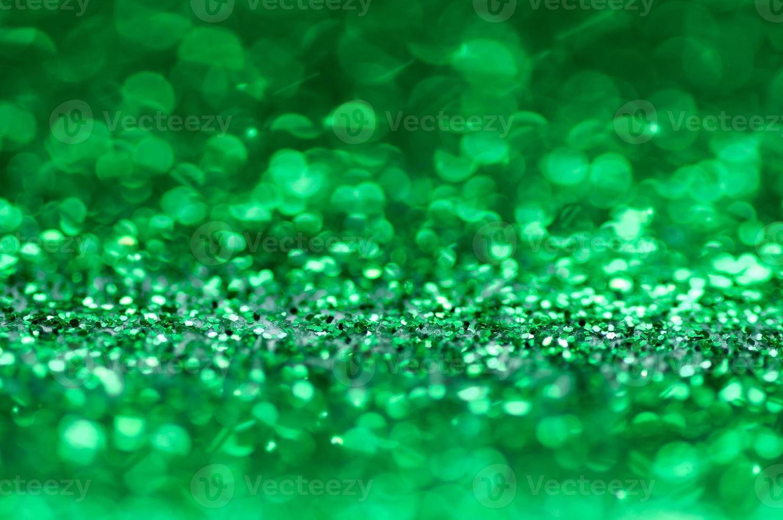 sfondo bokeh glitter verde foto