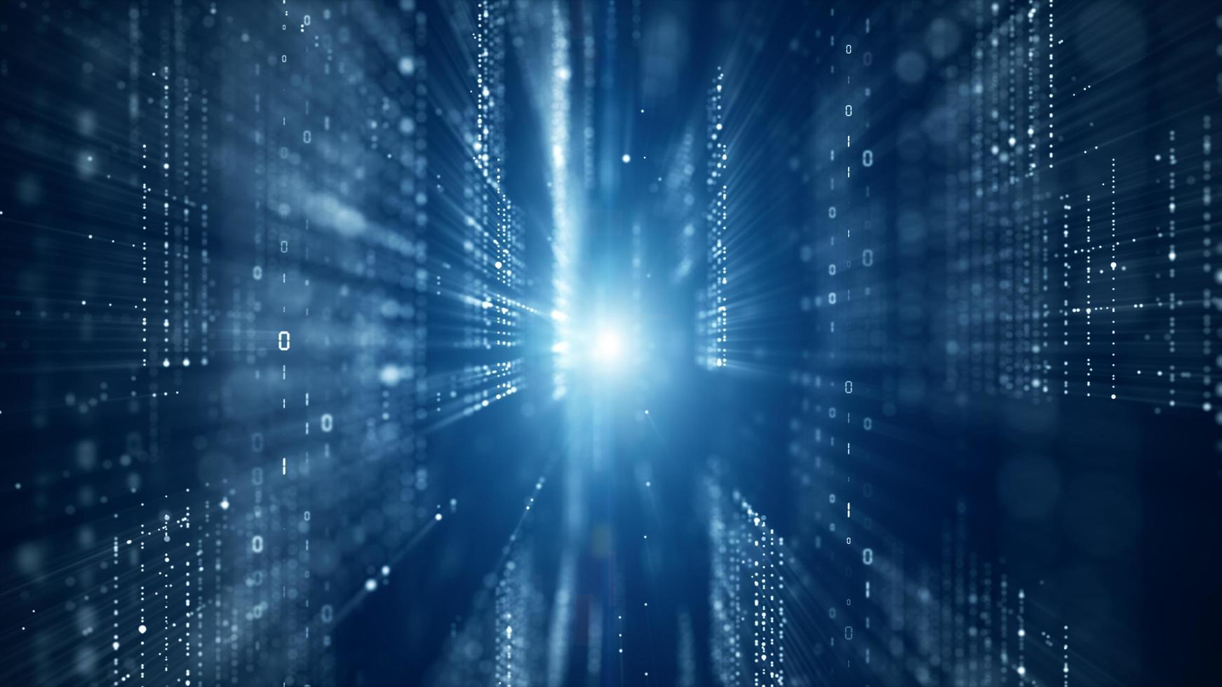 cyberspazio digitale con connessioni di rete di dati digitali foto