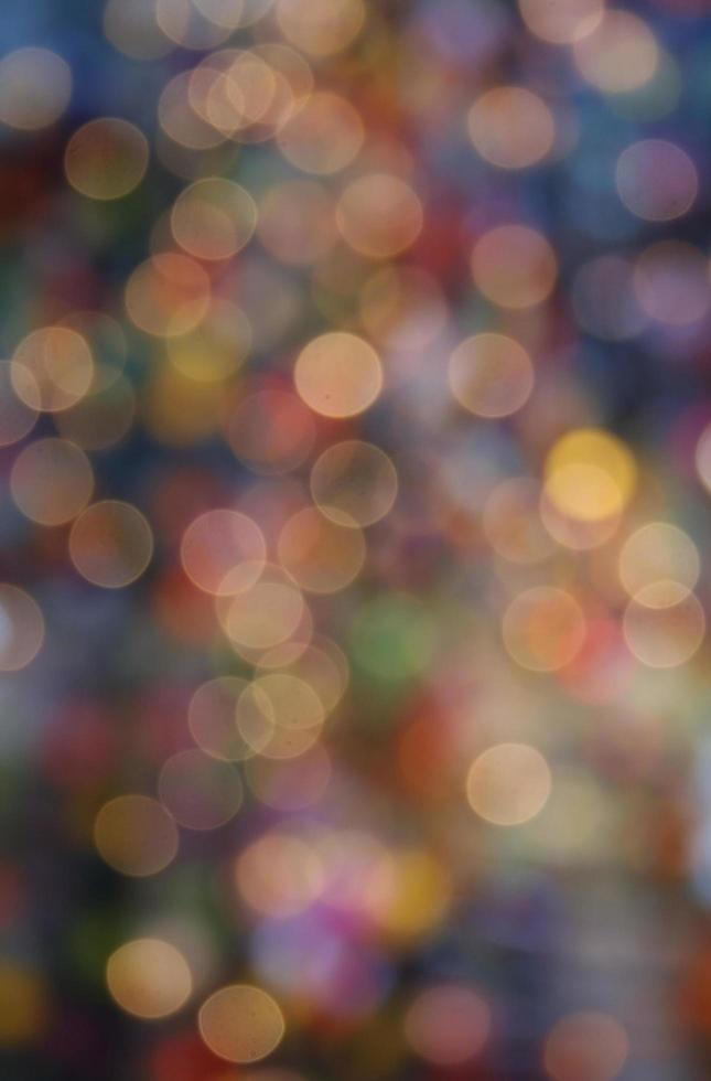 morbido bokeh multicolore foto