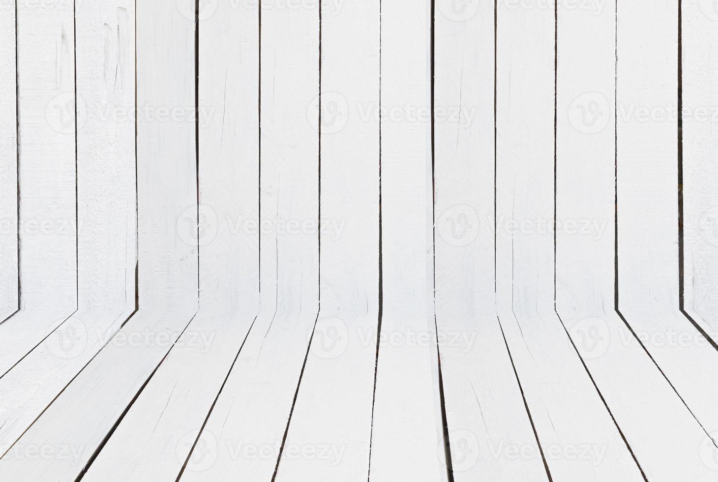 vecchio fondo di legno bianco della parete di struttura foto